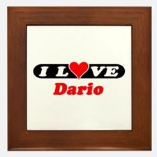 I Love Dario Framed Tile