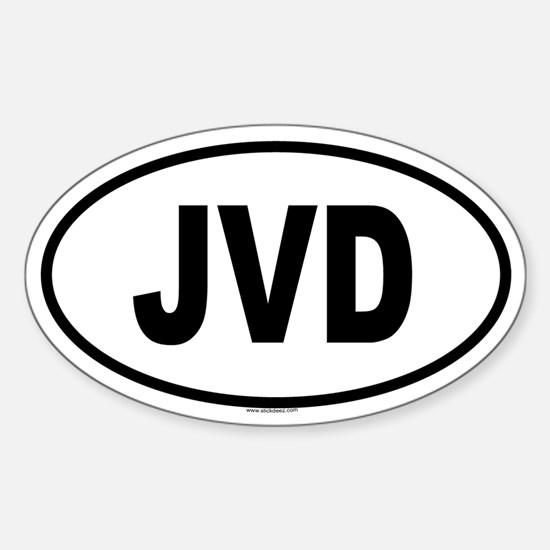 JVD Oval Bumper Stickers