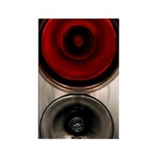 Wine in glass Rectangle Magnet
