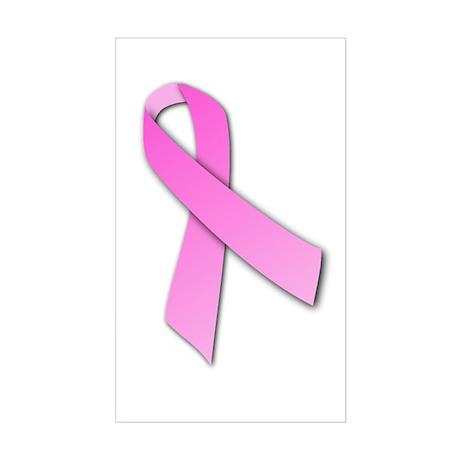 Pink Ribbon Rectangle Sticker