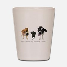 Rescued Favorite Breed Shot Glass