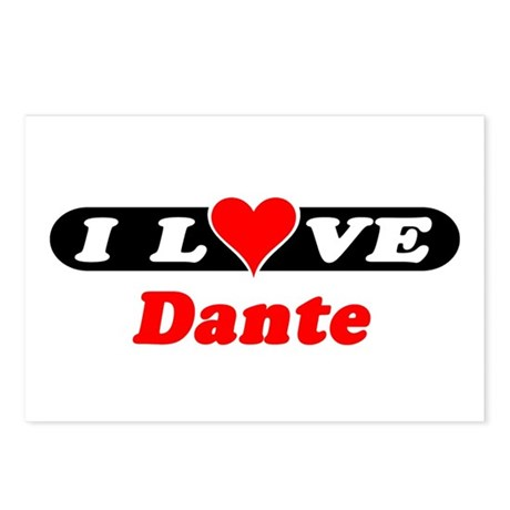 I Love Dante Postcards (Package of 8)