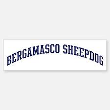 Bergamasco Sheepdog (blue) Bumper Bumper Bumper Sticker