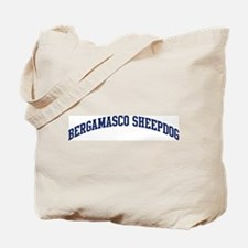 Bergamasco Sheepdog (blue) Tote Bag