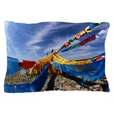 Colorful sutra streamer Pillow Case
