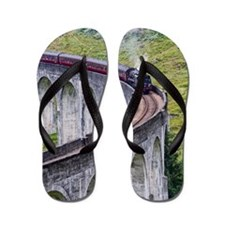 Famous Jacobite steam train Flip Flops