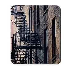 Fire Escape Stairs Against Building Wall Mousepad