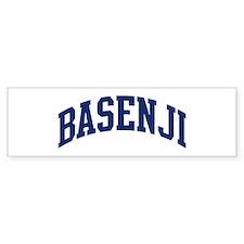Basenji (blue) Bumper Bumper Sticker
