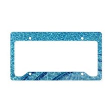 Light refracted in swimming p License Plate Holder