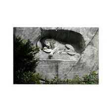 Lion of Lucerne Rectangle Magnet
