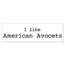 I like American Avocets Bumper Bumper Sticker