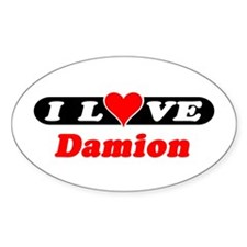 I Love Damion Oval Decal