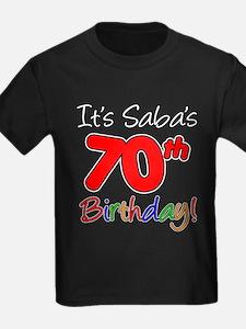 It's Saba 70th Birthday T-Shirt