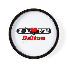I Love Dalton Wall Clock