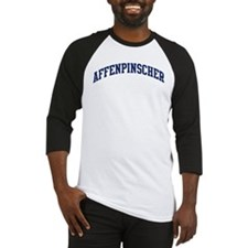 Affenpinscher (blue) Baseball Jersey