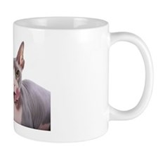 Sphynx Cat with tongue out Small Mug