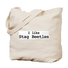 I like Stag Beetles Tote Bag