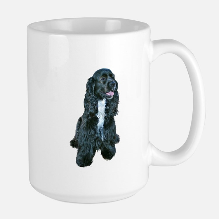 Cocker (black- white bib) Large Mug