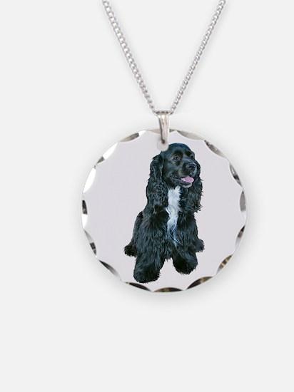 Cocker (black- white bib) Necklace