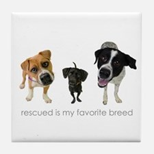 Rescued Favorite Breed Tile Coaster
