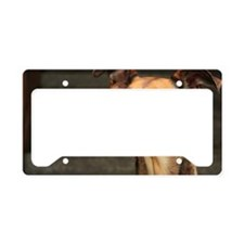 Sighthound mix in door frame License Plate Holder