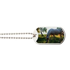 Fjord horse grazing Dog Tags