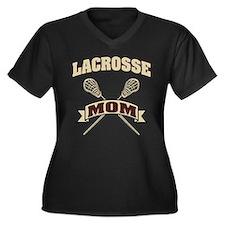 Lacrosse Mom Women's Plus Size V-Neck Dark T-Shirt