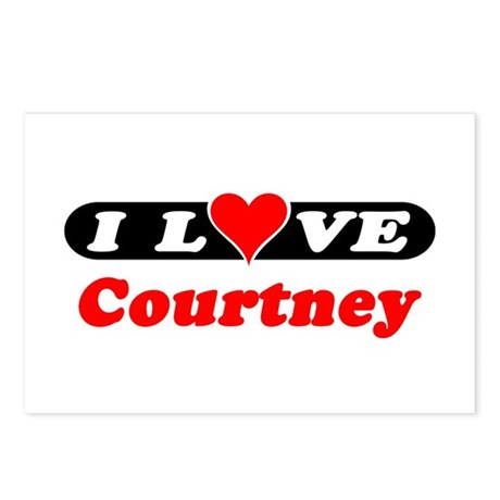 I Love Courtney Postcards (Package of 8)