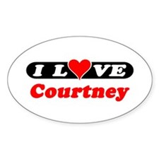 I Love Courtney Oval Decal
