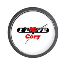 I Love Cory Wall Clock