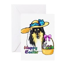 Easter Collie Greeting Cards (Pk of 10)