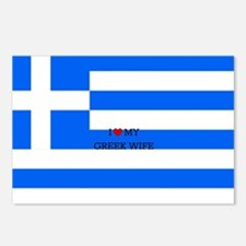 I Love My Greek Wife - Fl Postcards (Package of 8)