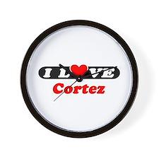 I Love Cortez Wall Clock
