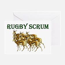 Springbok Rugby Scrum Greeting Cards