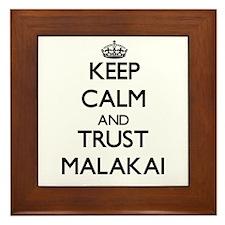 Keep Calm and TRUST Malakai Framed Tile