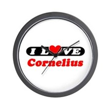 I Love Cornelius Wall Clock