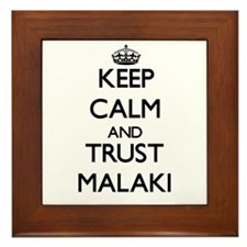 Keep Calm and TRUST Malaki Framed Tile