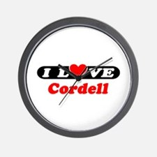 I Love Cordell Wall Clock