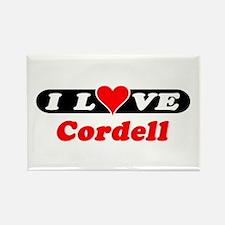 I Love Cordell Rectangle Magnet