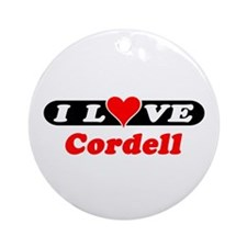 I Love Cordell Ornament (Round)