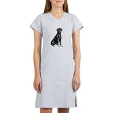 Black Lab 1 Women's Nightshirt