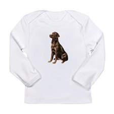 Chocolate Lab (#1) Long Sleeve Infant T-Shirt