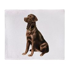 Chocolate Lab (#1) Throw Blanket