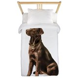 Chocolate labrador retriever Luxe Twin Duvet Cover