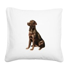 Chocolate Lab (#1) Square Canvas Pillow