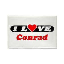 I Love Conrad Rectangle Magnet