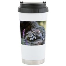 Raccoon Kits Travel Coffee Mug