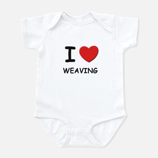 I love weaving  Infant Bodysuit