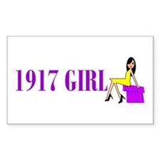 90th Birthday Rectangle Decal