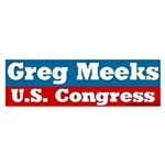 Greg Meeks for Congress Bumper Sticker